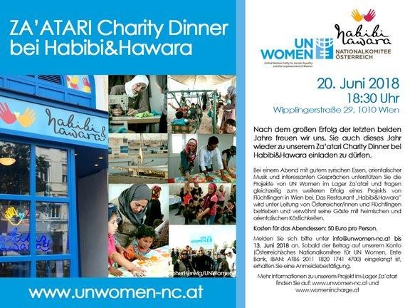 Za'atari Charity Dinner am Weltflüchtlingstag