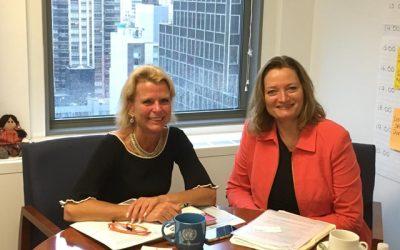 UN Women NKÖ Präsidentin Desiree Schweitzer trifft Åsa Regnér, Deputy Executive Director von UN Women, in New York