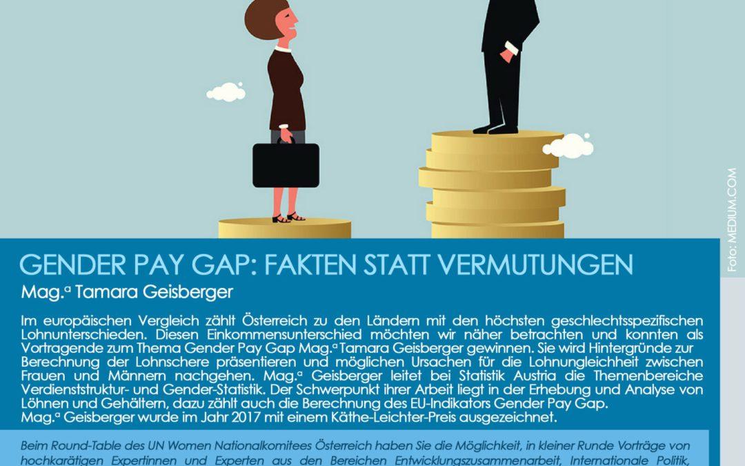 Einladung: Roundtable zum Thema Gender Pay Gap: Fakten statt Vermutungen