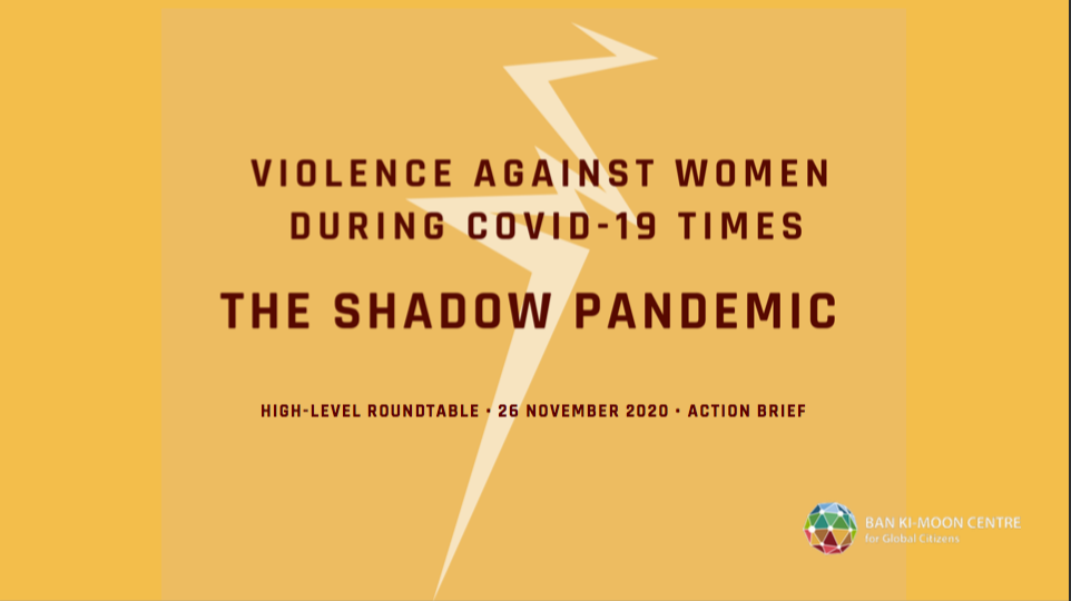 """Nachlese: """"The Shadow Pandemic: Violence Against Women During COVID-19 Times"""""""