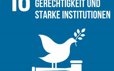 SDG 16: Frieden, Gerechtigkeit und starke Institutionen